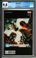 Civil War II #1 Hip Hop Variant CGC 9.8 White! Albuquerque Cover! Onyx Homage!!