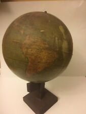 New Peerless 12 Inch Globe Rehm Globe Co. Chicago Antique World Globe Map