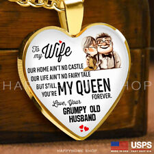 Premium Heart Necklace Anniversary Love Gift For Wife You're my Queen Forever