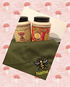Waist apron. Half apron. Bee Apron. Personalised Apron. Garden Apron. Small gift
