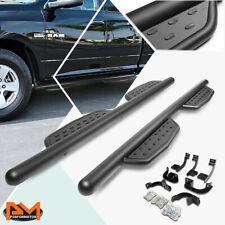 For 09 20 Dodge Ram Truck Extended Cab 3 Side Step Nerf Bar Running Board Black Fits Dodge Ram 1500