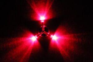 Knight Chainz Disc Golf Light - Knight Flightz Red Tri-Star 3 LED Disc Light