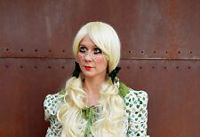 Lolita Light Blonde Long  Curly Women Cosplay Wig Doll Halloween