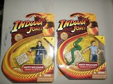 2 Indiana Jones Kingdom Crystal Skull Mutt Williams Sword & Snake Figure in box