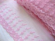 Feine Spitze mit Stickerei,rosa, 23 cm breit  S9.3