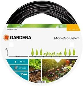 15m Gardena Micro-Drip-System Perl Tropf Garten Schlauch Bewässerung oberirdisch