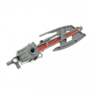 1x LEGO Bionicle Laser Weapon Perl Light Grey Light Red Axe 8730 8625 55827c01