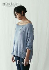 Erika Knight Ladies Sweater Knitting Pattern Pagoda In DK (Studio Linen)