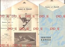 ALPINISMO SCI PUBBLICITA 1930 TORINO RAVELLI ATTREZZATURA SKI SCARPONI