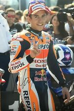 Marc Marquez signed Moto GP 12x8 photo Image M UACC Registered Dealer