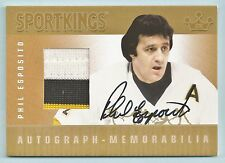 PHIL ESPOSITO 2009 SPORTKINGS GOLD 3 COLOR JERSEY AUTOGRAPH AUTO /10