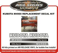KUBOTA  M4900 TRACTOR DECAL SET , reproductions