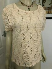 SOUTH SIZE 18 (EUR 46) NEW WITH TAGS SEQUINNED PALE PEACH FORMAL / PARTY TOP.