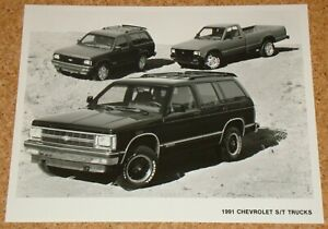 1991 CHEVROLET S/T TRUCKS - 8x10 car press photo