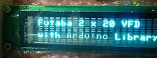 New 20X2 alphanumeric VFD Display +5VDC Parallel +Arduino library file & pinouts