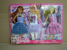 Vestido de fiesta rara Barbie Fashionista de Moda Pack MUÑECA TRAJE 2012 Mattel