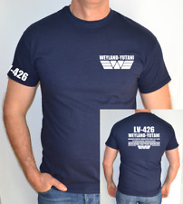 LV426 TERRAFORMERS WANTED,CR  WEYLAND, YUTANI, ALIENS, PROMETHEUS  ,FUN,T SHIRT