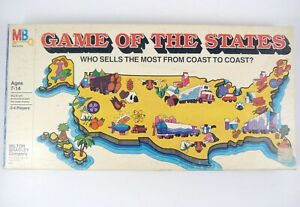 Vintage Board Game GAME OF THE STATES Milton Bradley #4920 ©1979 Nearly Complete