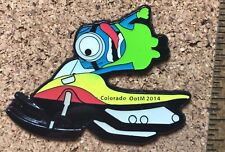 Colorado 2014 Odyssey of the Mind Pin World Finals Pin Minion riding Snowmobile