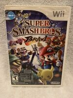 Super Smash Bros. Brawl Case (Nintendo Wii, 2008) - NO DISC, Free Shipping!