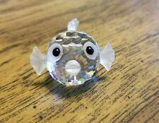 Swarovski Crystal Small Blow / Puffer Fish Figurine, Retired, Vintage with Logo