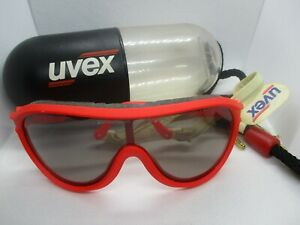 UVEX Sportstyle Red Goggle Sunglasses w/ Vintage 1980's Waterproof Floating Case