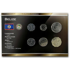 1999-2011 Belize 1 Cent-1 Dollar Coin Set Unc - SKU #87189
