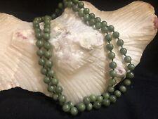Vintage Green Jade Beaded Necklace