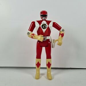 "MMPR Power Rangers Jason Flip Head Red Auto Morphin 5.5"" Figure Bandai 1993"