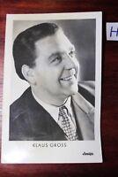 Postkarte Ansichtskarte Schauspieler Klaus Gross