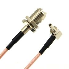 F Female to CRC9 Male Right Angle Plug 15 cm  Pigtail Cable RG-316 - UK Seller