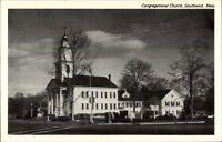 Southwick MA Cong Church Postcard
