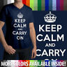 Keep Calm And Carry On Political British WWII Poster Mens/Unisex V-Neck T-Shirt
