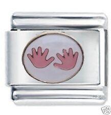 DAISY Charm JSC ITALIANO Charms-Rosa Baby Handprints