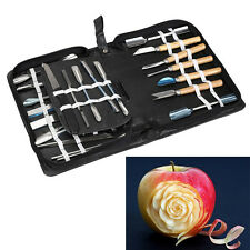 46Pcs Fruit Vegetable Kitchen Tool Set Chisel Carving Tool Stainless Steel Kit