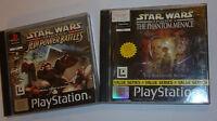 PS1 PLAYSTATION 1 STAR WARS GAMES BUNDLE EPISODE I PHANTOM MENACE + JEDI BATTLES