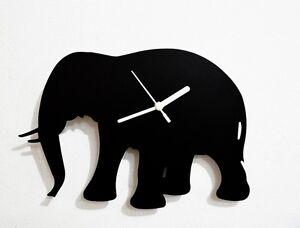 Elephant Silhouette - Wall Clock