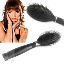 Hair Extensions Bürste Haarbürste schwarz Echthaar Strähnen Haarverlängerung