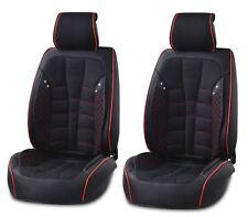 Simili Cuir Noir & Tissu Revêtement siège avant Coussin pour Peugeot 207 307 407