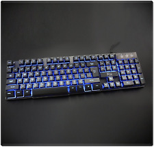 Large Light Up Gaming Keyboard Blue Red Mechanical-Like Wired Backlit Colors LED