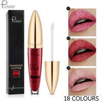 Pudaier 18 Colour Matte Pearlescent Lip Gloss Non-stick Cup Diamond Lipstick