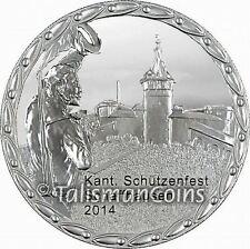 Switzerland 2014 Schaffhausen Shooting Festival 50 Swiss Francs Taler Silver Prf