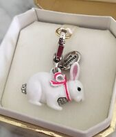 NEW Juicy Couture Limited PAVE SNOW BUNNY White Rabbit Easter Bracelet Charm