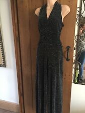 DESIGNER STAR BY JULIEN MACDONALD LUREX,METALIC JUMP SUIT SIZE 12