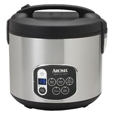 Aroma 20 Cup Digital Multicooker & Rice Cooker Stainless Steel