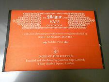 JACKDAW Primary Source Document Portfolio 9x14 NM- #2 PLAGUE & FIRE OF LONDON