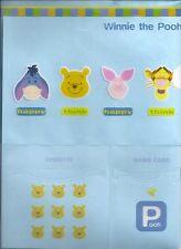 Disney Winnie the Pooh Folder Disk Card Pocket Blue