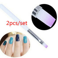 Manicure Tool 2PCS DIY Acrylic UV Gel Nail Art Design Pen Polish Painting Brush