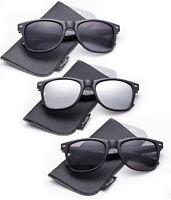 Sunglasses Vintage Retro 80s Frame Unisex with Pouch Multicolor Frame Vintage