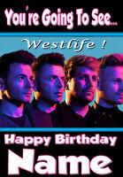 PERSONALISED WESTLIFE BIRTHDAY CARD